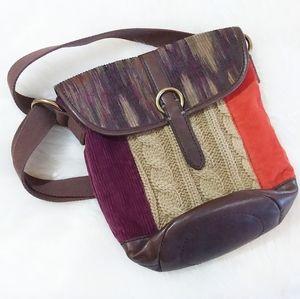 Lucky Brand Crochet Crossbody Handbag Boho Purse